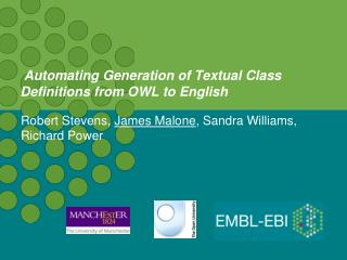 Automating Generation of Textual Class Definitions from OWL to English