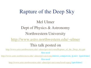 Rapture of the Deep Sky
