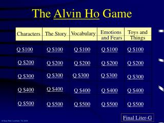 The  Alvin Ho  Game