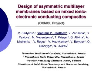 Design of asymmetric multilayer membranes based on mixed ionic-electronic conducting composites