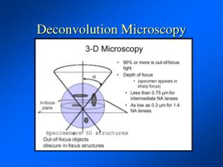 Deconvolution Microscopy