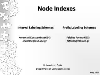 Node Indexes