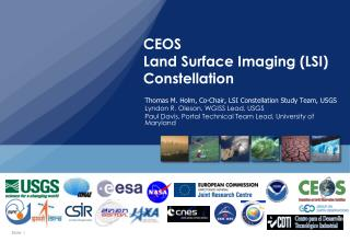 CEOS Land Surface Imaging (LSI) Constellation