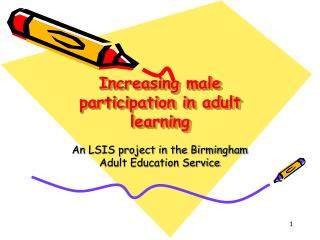 Increasing male participation in adult learning