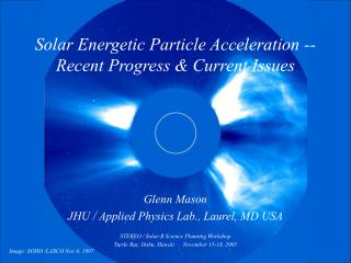 Solar Energetic Particle Acceleration --   Recent Progress & Current Issues