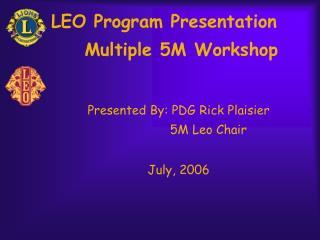 LEO Program Presentation