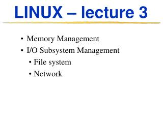 LINUX – lecture 3