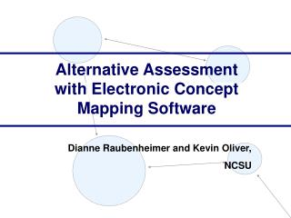 Alternative Assessment with Electronic Concept Mapping Software