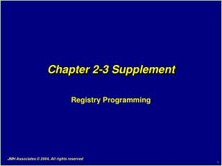 Chapter 2-3 Supplement