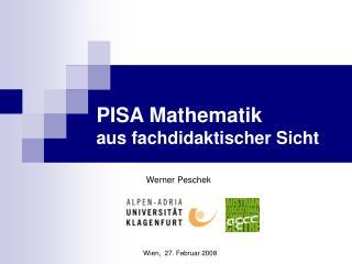 PISA Mathematik aus fachdidaktischer Sicht