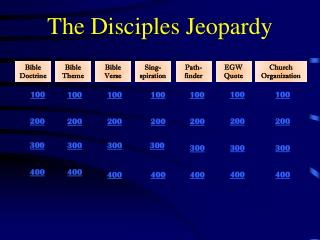 The Disciples Jeopardy