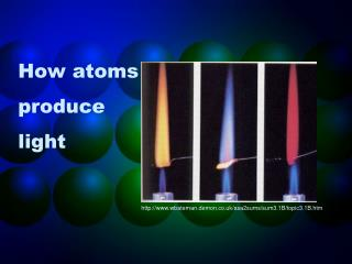 How atoms produce light