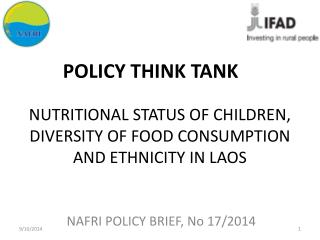 NUTRITIONAL STATUS OF CHILDREN, DIVERSITY OF FOOD CONSUMPTION AND ETHNICITY IN LAOS