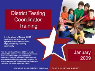 District Testing Coordinator Training