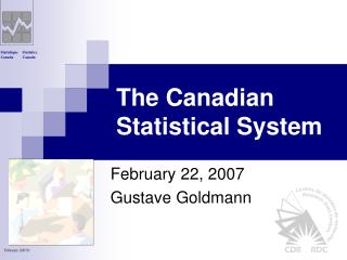 The Canadian Statistical System