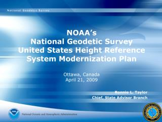 NOAA's  National Geodetic Survey  United States Height Reference System Modernization Plan