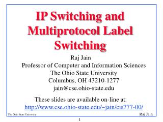IP Switching and Multiprotocol Label Switching
