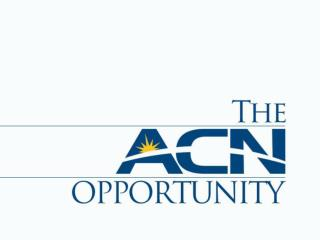 Why consider the ACN Opportunity?