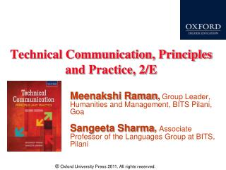 Technical Communication, Principles and Practice, 2/E