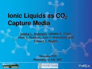 Ionic Liquids as CO 2  Capture Media