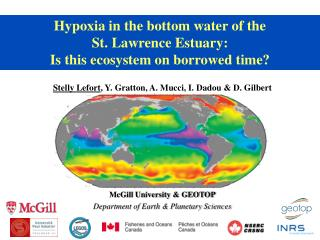 Hypoxia in the bottom water of the  St. Lawrence Estuary:  Is this ecosystem on borrowed time?