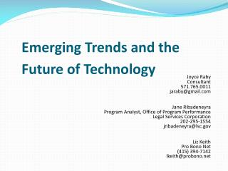 Emerging Trends and the Future of Technology