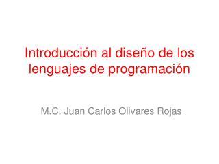 Introducción al diseño de los lenguajes de programación