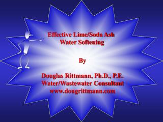 Effective Lime/Soda Ash  Water Softening