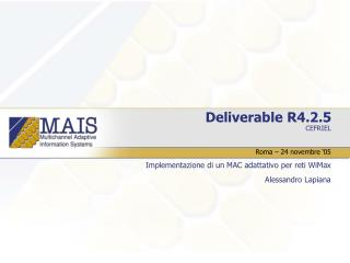Deliverable R4.2.5