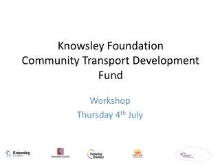 Knowsley Foundation Community Transport Development Fund