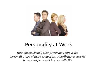 Personality at Work