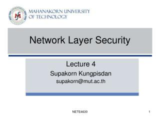 Network Layer Security