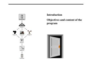 Introduction Objectives and content of the program