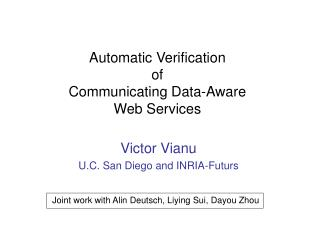 Automatic Verification  of  Communicating Data-Aware  Web Services