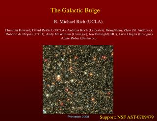 The Galactic Bulge