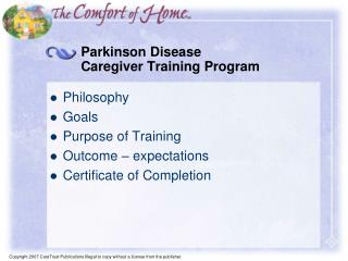 Parkinson Disease  Caregiver Training Program