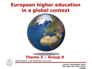 European higher education  in a global context