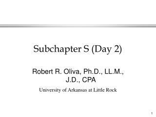 Subchapter S (Day 2)
