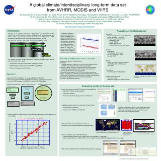 A global climate/interdisciplinary long-term data set  from AVHRR, MODIS and VIIRS