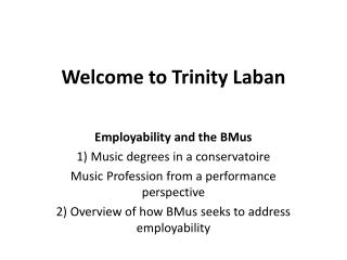 Welcome to Trinity Laban