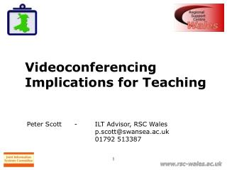 Videoconferencing Implications for Teaching