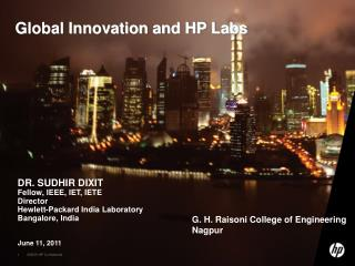 Global Innovation and HP Labs