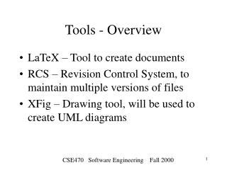 Tools - Overview