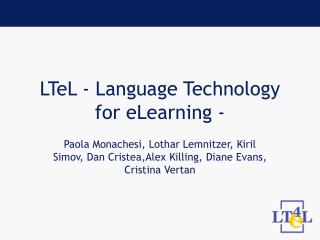 LTeL - Language Technology for eLearning -
