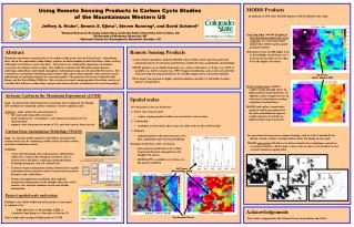 Using Remote Sensing Products in Carbon Cycle Studies of the Mountainous Western US
