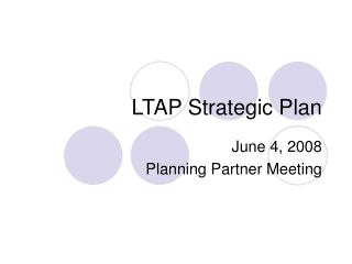 LTAP Strategic Plan