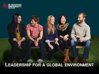 Leadership for a global environment