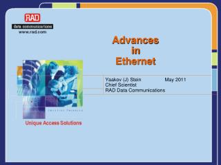 Advances in  Ethernet