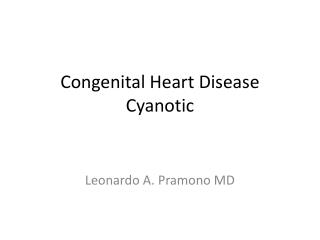 Congenital Heart Disease Cyanotic