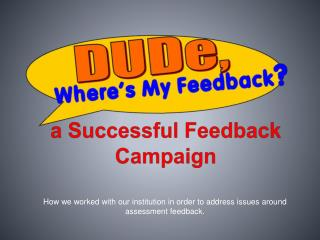 a Successful Feedback Campaign